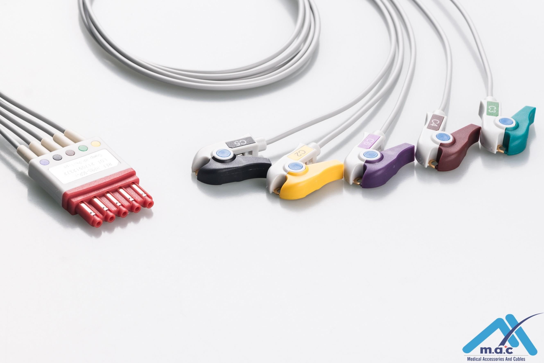 Philips Reusable ECG LeadWires HPMB5-90P-I  HPMB5-90P    M1976A