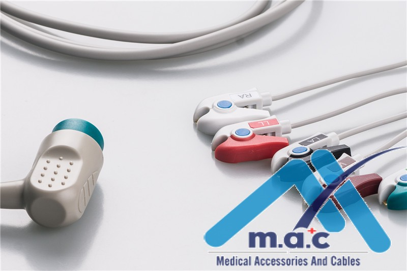 Medtronic Compatible Disposable One Piece ECG Fixed Cable 25M27P