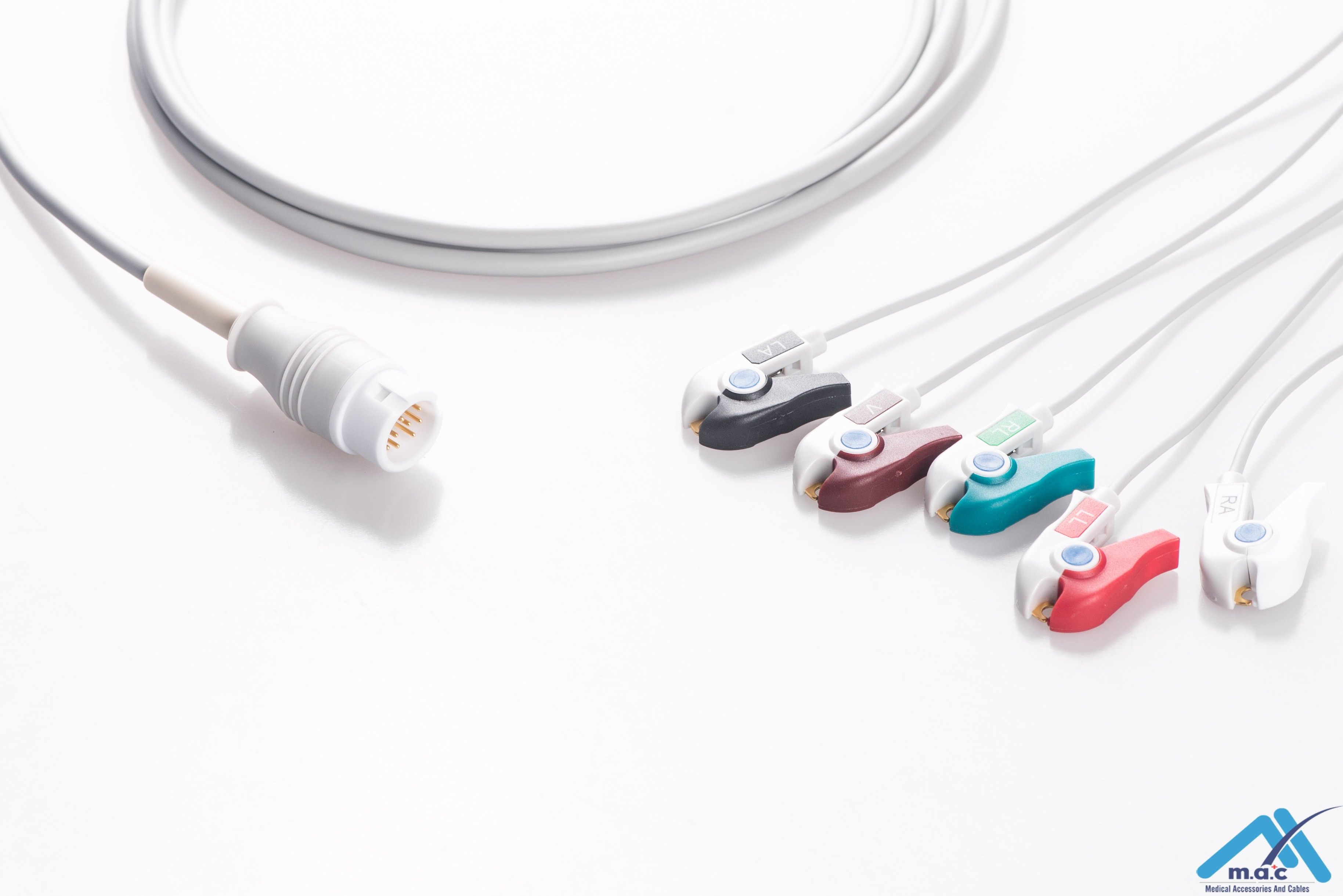 Philips Reusable One Piece ECG Fixed Cable 25M85P-I 25M85P