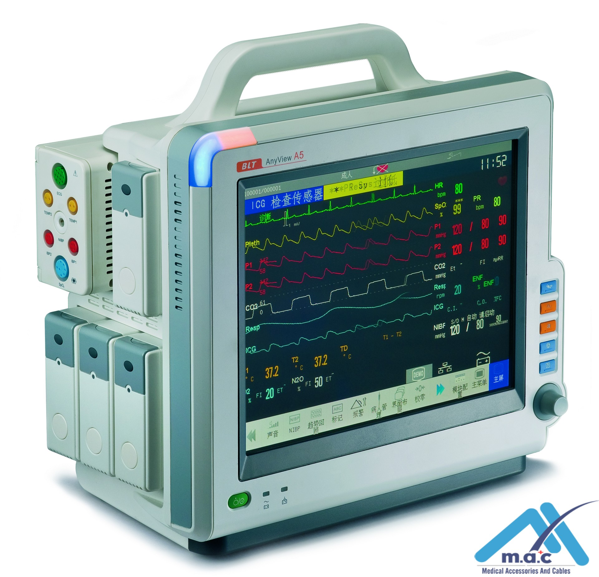 A5 modular patient monitor