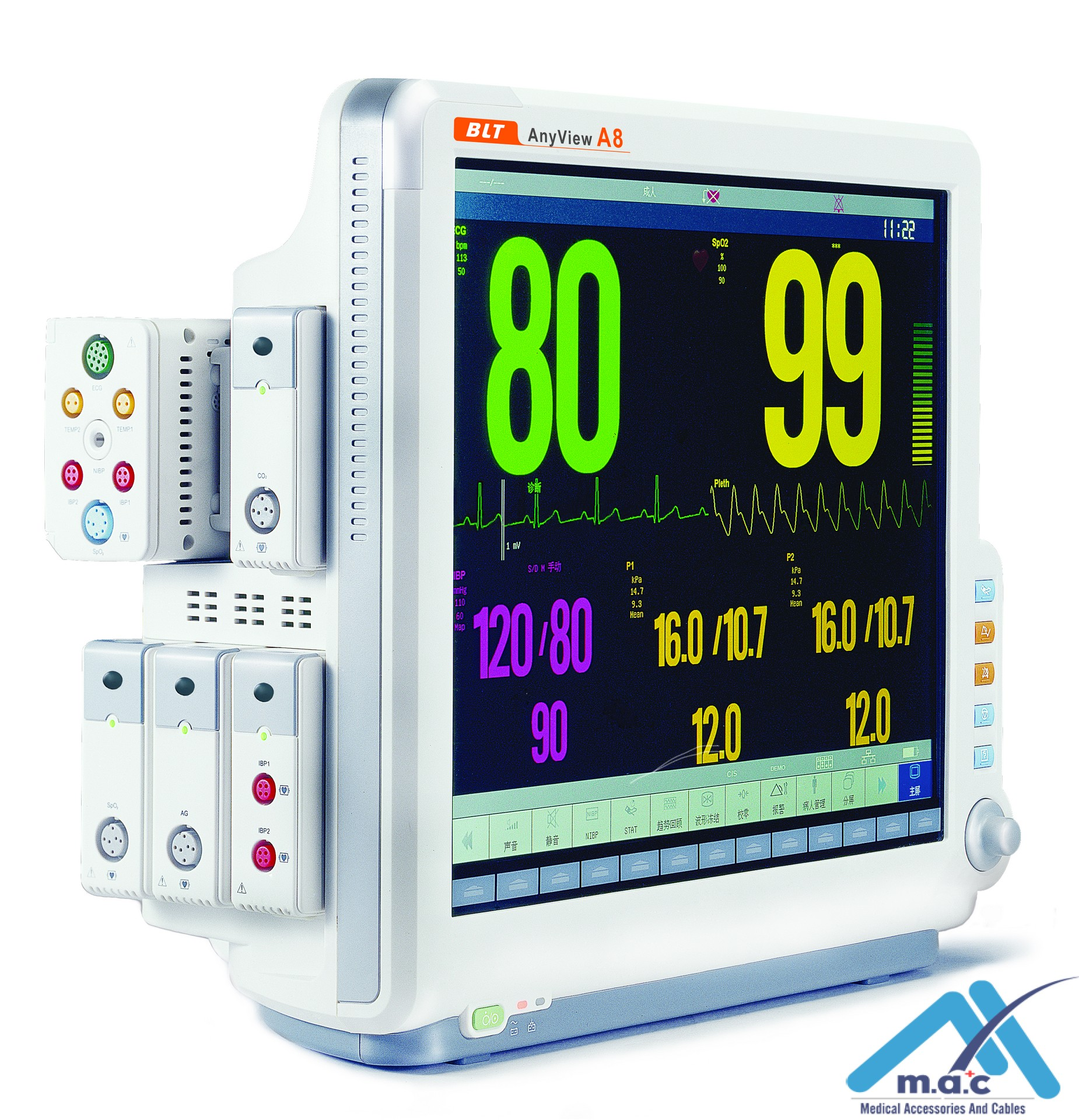MAC A8  Modular Multi-Parameter Patient Monitor