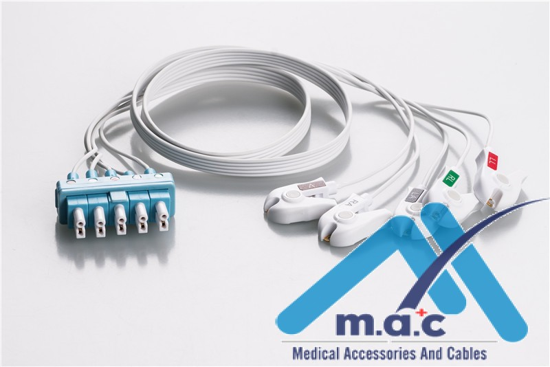Philips Compatible Disposable ECG Lead Wires AAMB5-90DP