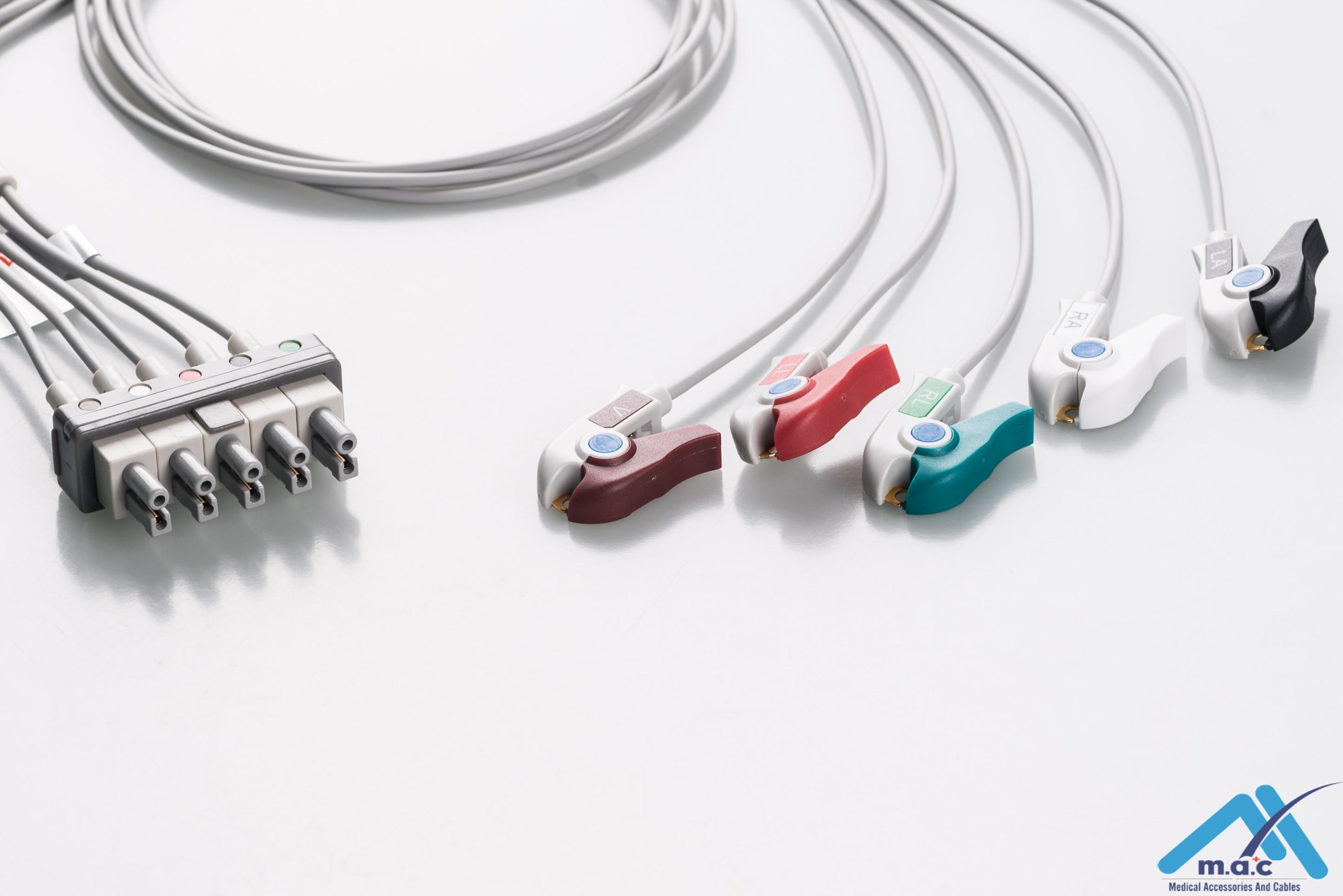 Philips Reusable ECG LeadWires AAMB5-90P-I AAMB5-90P