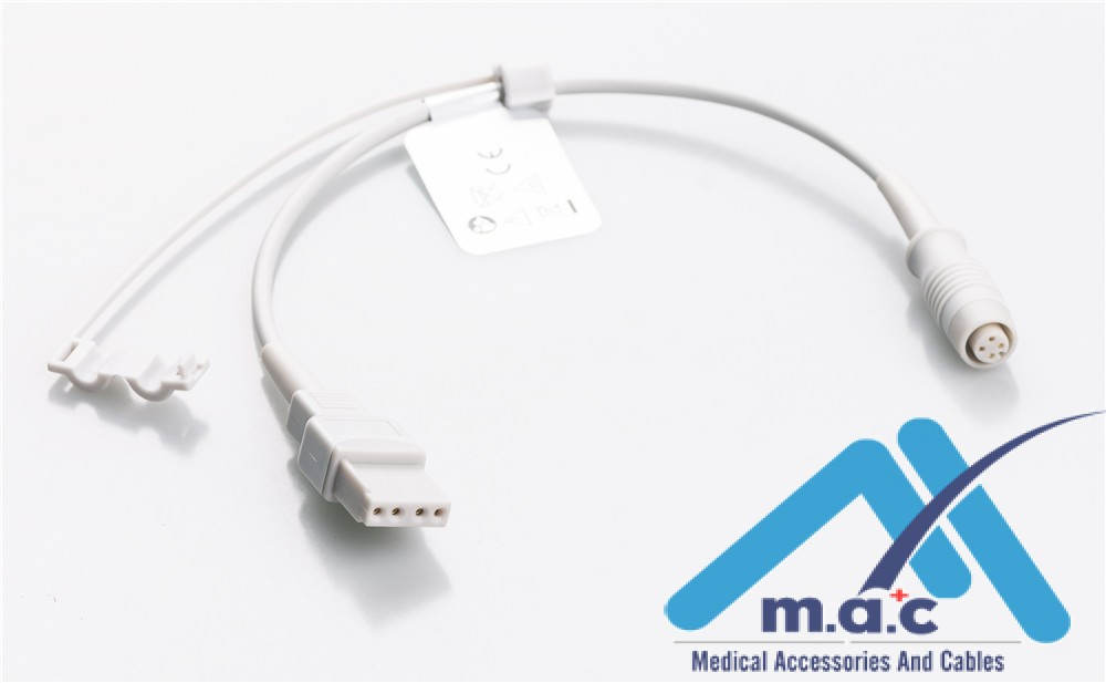 -Utah Compatible IBP Adapter Cables - B.Braun Connector