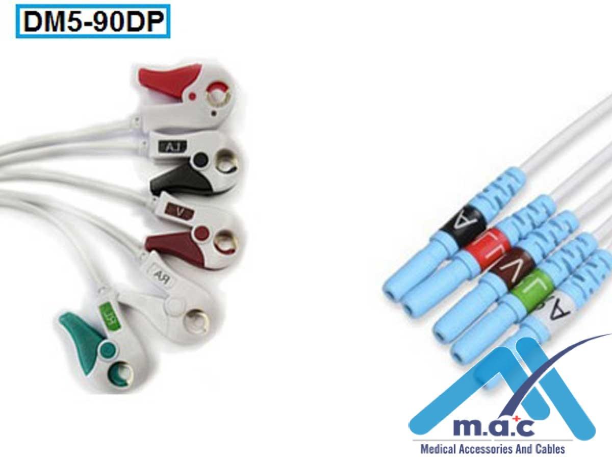 Disposable DIN Style ECG Lead Set