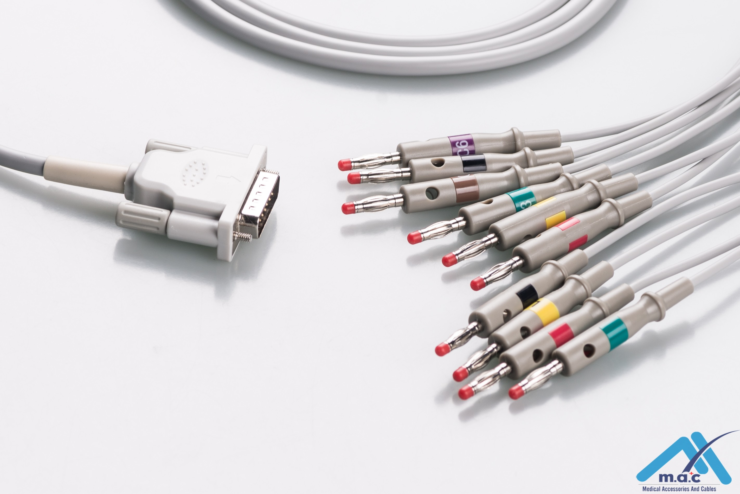 Philips Reusable One Piece EKG Fixed Cable E1M0-HP-B E1M0-HP-B/I