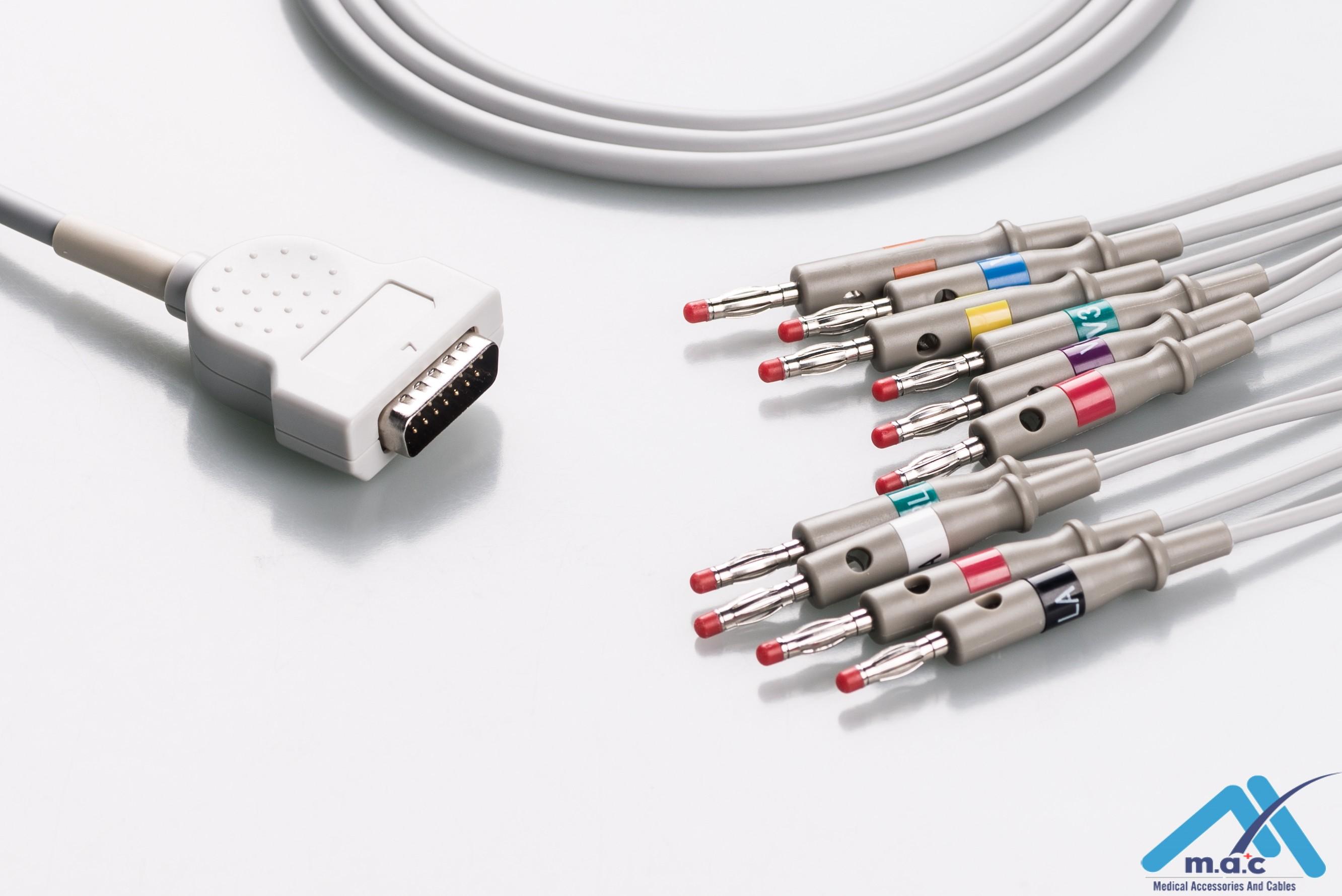 GE Healthcare - Marquette Reusable One Piece EKG Fixed Cable E1M0-MQ-B E1M0-MQ-B/I