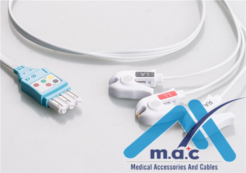 Philips Compatible Disposable ECG Lead Wires HPM3-90DP-I
