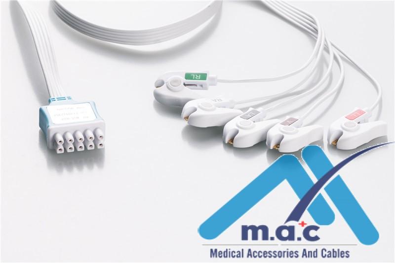 GE Healthcare - Marquette Compatible Disposable ECG Leadwire MQM5-90DP    BOX of 10 each