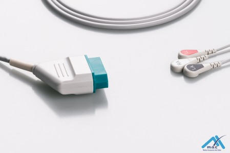 Nihon Kohden Reusable One Piece ECG Fixed Cable 23M09S