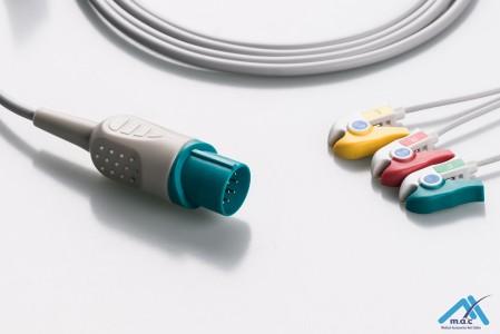Nihon Kohden Reusable One Piece ECG Fixed Cable 23M13P-I