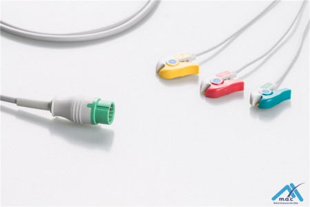 Biolight Compatible Disposable One Piece ECG Fixed Cable 23M67P-I