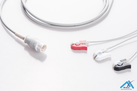 Philips Reusable One Piece ECG Fixed Cable 23M85P-I 23M85P