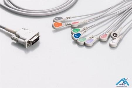 Philips Compatible One Piece Reusable EKG Cable - AHA