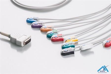 Marquette Compatible One Piece Reusable EKG Cable - AHA