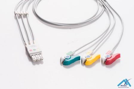 Philips Reusable ECG LeadWires HPM3-90P-I HPM3-90P