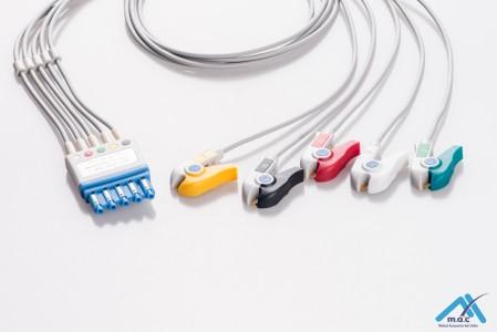 Philips Reusable ECG LeadWires HPMA5-90P HPMA5-90P-I
