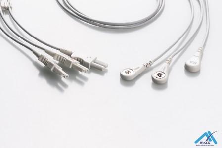 Spacelabs Reusable ECG LeadWires SLMB3-90S
